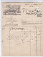 St- Servais   1899.E. Davreux-Collard Scierie à Vapeur. Route De Gembloux - Historische Documenten