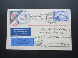 DR 1929 Graf Zeppelin Nr. 423 EF Mit Flugpost Nach New York Beförderung Verzögert Wegen Abbruchs Der 1. Amerikafahrt - Deutschland