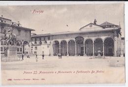 FIRENZE PIAZZA SS. ANNUNZIATA E MONUMENTO A FERDINANDO DE MEDICI   AUTENTICA 100% - Firenze (Florence)