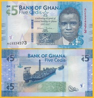 Ghana 5 Cedis P-43 2017 Commemorative UNC Banknote - Ghana
