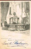MEOUNES- Var- Place De L'Ormeau -Enfants -   Cpa Dnd- Voyagée  1904  -  Scans Recto Verso - France