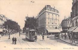 33 - BORDEAUX Place Gambetta Et Cours De Tourny ( Tramway En 1er Plan / Magasin AU PETIT PARIS )  CPA - Gironde - Bordeaux