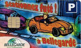 CARTE DE STATIONNEMENT CHIP CAR CARTE A PUCE STATIONNEZ FUTÉ A BELLEGARDE SUR VALSERINE 01 AIN - France