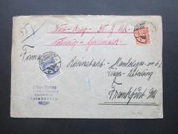 DR 1924 Wertbrief über 90 Goldmark MiF Nr. 341/342 Rücks. Vignette Die Krausmarke Verbürgt Qualität - Deutschland
