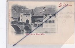 Suisse, Saint Ursanne .Hôtel De La Demi Lune (carte Précurseur De 1899) - JU Jura