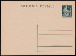 DEMOCRATICA - Cartolina Celebratia Privata. Cartolina Postale Da Lire 2 (Interitalia 127) Nuova E BBB Con Al Retro Pubbl - 6. 1946-.. Repubblica