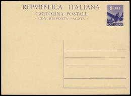 DEMOCRATICA. Cartolina Postale Da L.8+8 (con Risposta Pagata) Catal. Interitalia N.136 Nuova E BBB. - 6. 1946-.. Repubblica