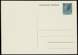 ITALIA TURRITA. Cartolina Postale Da Lire 20 (Interitalia 155.B) Con Linea Verticale Puntinata, Nuova E BBB. - 6. 1946-.. Repubblica