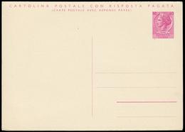 ITALIA TURRITA. Cartolina Postale Con R.P. Da Lire 40+40 (Interitalia 167) Nuova E BBB. - 6. 1946-.. Repubblica