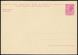 ITALIA TURRITRA. Cartolina Postale Con R.P. Da Lire 55+55 Nuova E BBB (Interitalia 171). - 6. 1946-.. Repubblica