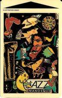 CARTE DE STATIONNEMENT BANDE MAGNÉTIQUE MANOSQUE 04 ALPES DE HAUTE-PROVENCE ILLUSTRATION FESTIVAL JAZZ 1993 PAR KNAFF - France