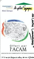 CARTE DE STATIONNEMENT BANDE MAGNÉTIQUE MANOSQUE 04 ALPES DE HAUTE-PROVENCE VISUEL OFFERT PAR L'ACAM - Francia