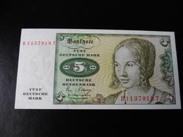 5 DEUTSCHE MARK  02.01.1980  UNC - [ 7] 1949-… : RFA - Rep. Fed. De Alemania