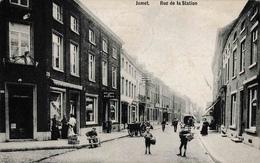 Jumet Rue De La Sation Aux Caves De Diekirch Commerces Et Attelages Belle Animation - Charleroi