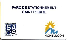 CARTE DE STATIONNEMENT BANDE MAGNÉTIQUE MONTLUÇON 03 ALLIER PARC SAINT PIERRE - France