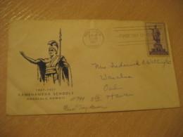 HONOLULU 1937 Kamehameha Schools HAWAII Fdc Cancel Cover USA - Hawaï