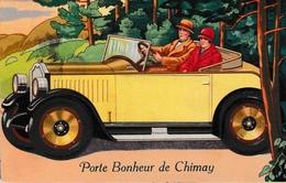 Porte De Bonheur De Chimay Carte à Système Billet De Banque édit Préaux Ghlin Ancienne Automobile - Chimay