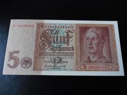 5 REICHSMARK  01.08.1942 - UNC - [ 4] 1933-1945: Derde Rijk