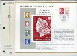 Feuillet CEF........REF147 TRANSFERT DE L IMPRIMERIE DU TIMBRE PERIGUEUX 1re EMISSION - Frankreich