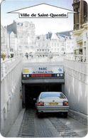 CARTE DE STATIONNEMENT BANDE MAGNÉTIQUE SAINT-QUENTIN 02 AISNE  PARC HOTEL DE VILLE - Francia