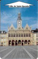 CARTE DE STATIONNEMENT BANDE MAGNÉTIQUE SAINT-QUENTIN 02 AISNE  PARC HOTEL DE VILLE PARC SPIE - Francia