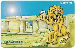 Malta - Maltacom - Lowenbrau Hagar Qim - 04.1997, 40U, 14.000ex, Used - Malta