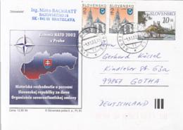 NATO SUMMIT IN PRAGUE, ARCHITECTURE STAMP, PC STATIONERY, ENTIER POSTAL, 2003, SLOVAKIA - Postcards