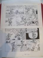 FRANZ. VICQ. KORRIGAN. Ne Nous Laissons Pas Abattre.Planche Originale, Encre De Chine.Histoire Parue Dans TINTIN 04/1974 - Books, Magazines, Comics