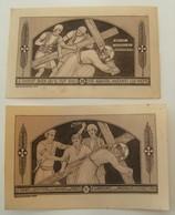 Lot 2 Images Pieuses Abbaye De Maredret 271+273 Monochrome Chromos Jésus Vintage - Images Religieuses