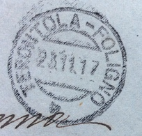AMBULANTE TERONTOLA - FOLIGNO * 23/11/17 SU BUSTA PER  LA CONTESSA ALDA RANGONI HOTEL COLONNA ROMA - 1900-44 Vittorio Emanuele III