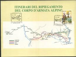 1993 Italia, 50° Anniversario Della Battaglia Di Nikolajewka Degli Alpini Itinerari Del Ripiegamento - Variedades Y Curiosidades