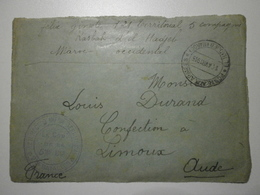 Maroc. El Hadjeb. Postes Aux Armées 1915 + Cachet Du Commandant De La 5e Comp. Du 2e Bat. Du 121e Rég. D'inf. Terr. - WW I