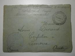 Maroc. El Hadjeb. Postes Aux Armées 1915 + Cachet Du Commandant De La 5e Comp. Du 2e Bat. Du 121e Rég. D'inf. Terr. - Guerre De 1914-18