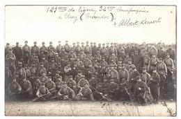 MILITARIA - CARTE PHOTO - GROUPE DE MILITAIRES - 1915 - 129eme De Ligne, 32eme Compagnie, USSY (14) - Guerra 1914-18