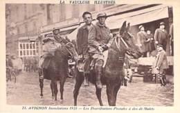POSTE & FACTEURS - 84 - AVIGNON Inondations 1935 Distribution Postale à Dos De Mulet ( Poste PTT ) Jolie CPA - Vaucluse - Avignon
