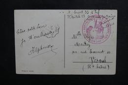 FRANCE - Cachet De L 'Hôpital Auxiliaire N° 23 De Divonne  Sur Carte Postale En 1917 - L 50474 - Marcofilia (sobres)