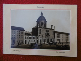 KOLN JUDAICA COLOGNE LA SYNAGOGUE CIRCA 1850 PHOTO GRAVURE DIM 17 X 12 - Photos