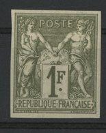 N°29 Cote 77 € COLONIES GENERALES 1Fr Olive Type Sage. Neuf Avec Charnière Et Gomme Non Orginiale. Belles Marges - Sage