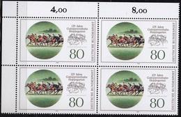 "BRD, 1993 Nr. 1677 **,  Viererblock Mit Eckrand Oben Links, ""Galopprennbahn Hoppegarten"" - Nuovi"