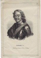Soetens Et Fils - Portrait De Pierre Le Grand (1672-1725) - Lithografieën