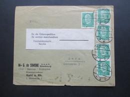 DR 1928 Reichspräsidenten I Nr. 411 MeF (5) Eisenbahndienstsache Service Kehl Am Rhein Nach Bern Schweiz - Deutschland