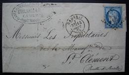 Cambrai 1874 Boulanger Raux, Glaces Faïences Porcelaines Cristaux Lettre Pour La Manufacture De Saint Clément - Storia Postale