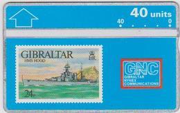 #03 - GIBRALTAR-05 - HMS HOOD - STAMP - 306A - Gibraltar