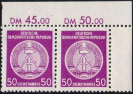 """DDR - Dienstmarken A: MiNr. 26 X X I, """"Verwaltungspost B"""", Paar, ER, Gepr., Pfr. - Deutschland"""