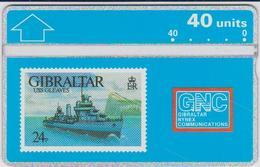 #03 - GIBRALTAR-06 - USS GLEAVES - STAMP - 306A - Gibraltar