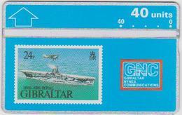 #03 - GIBRALTAR-07 - HMS ARK ROYAL - STAMP - 306A - Gibraltar
