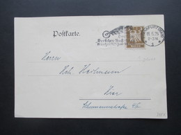 DR 1925 Nr. 355 EF Mit Perfin / Firmenlochung PK Der Städt. Steuerkasse IV Frankfurt Am Main Stp. Verkehrs Ausstellung - Deutschland