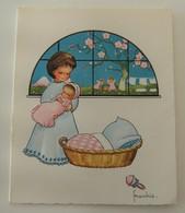 Carte De Naissance Ange Ailé Kruger N°828 Frankie 1963 Vintage Rétro Allemagne - Naissance