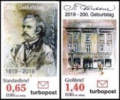 """Turbopost: MiNr. , 02.04.2019, """"200. Geburtstag Von Theodor Fontane"""", Satz, Pfr. - Duitsland"""