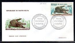 Haute-Volta A 025 Fdc Crocodile Du Nil - Reptiles & Batraciens